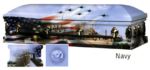 Image of AAA - US NAVY Art Casket Casket
