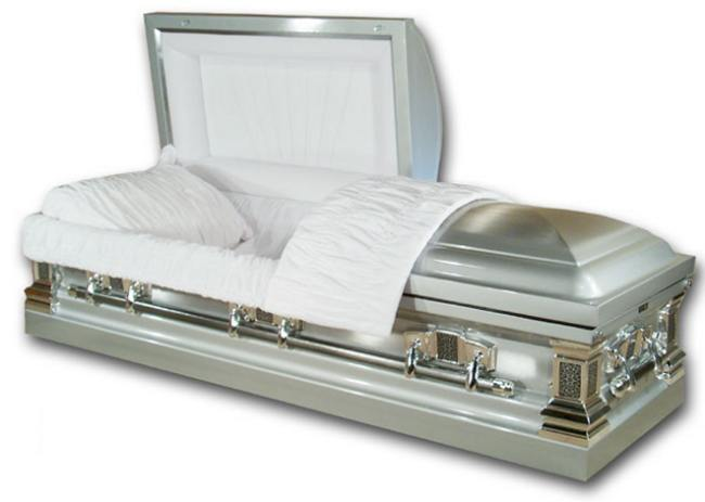 Picture of Stainless Steel - Diamond Casket Casket