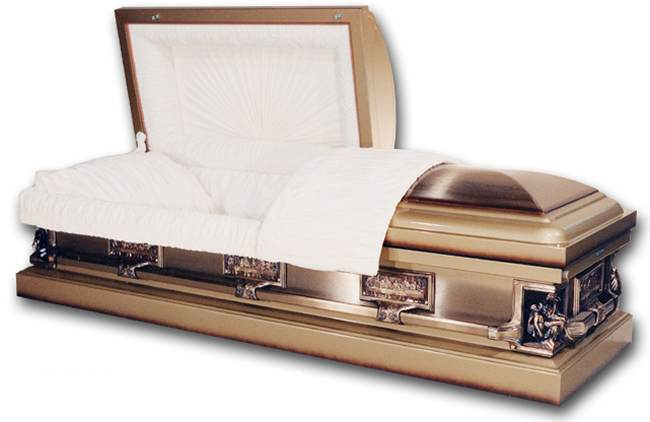 Photo of  La Pieta - Autumn Haze Steel Casket Casket