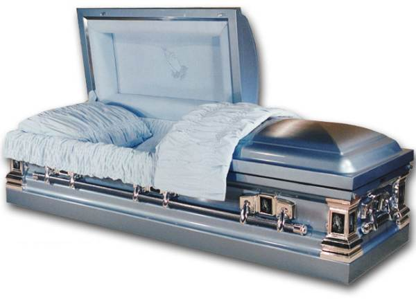 Photo of Stainless Steel - Blue Mist  Casket Casket
