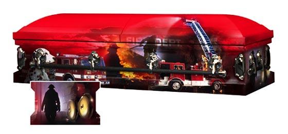 Photo of FIREFIGHTERS Legacy Art Casket Casket