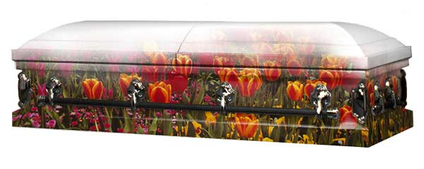 Photo of Tulips in the Field Casket